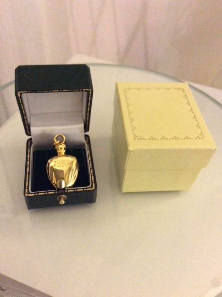 NEW DIOR Tendre poison perfume Pendant Charm Vintage gold plated leather lux box