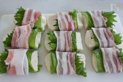 お豆腐消費レシピ♪お豆腐に豚肉を巻いた、ヘルシーなのにボリュームもあるおかずです。