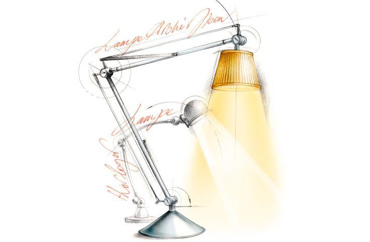 illustration design lampe Starck Florence Gendre #illustration #design #technique
