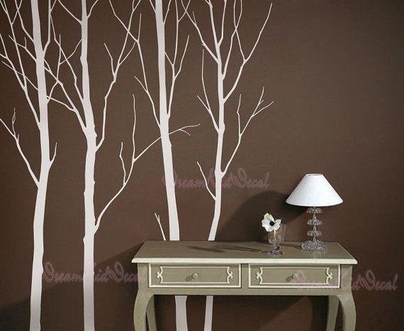 Arbres+blanc+stickers+nature+vinyle+mur+autocollant+par+AmazingWall,+$49.99