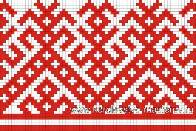 Схема вышивки крестом. Орнаменты русских вышивок. Узоры
