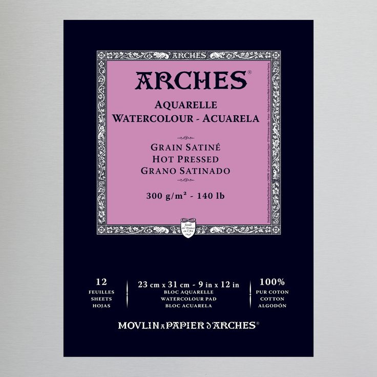 Arches Aquarelle Glued Watercolour Pad 300gsm Hot Watercolor