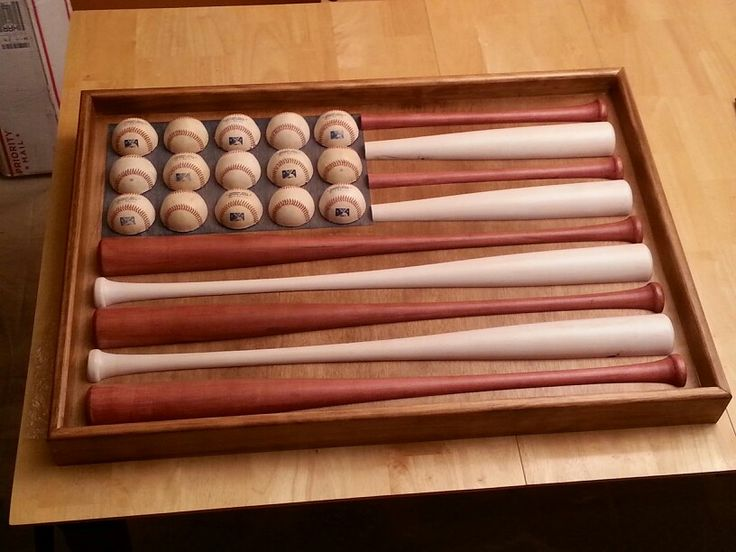 Baseball Amp Bat American Flag December 2013 For The