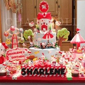 Hello Kitty Playland Birthday Cake