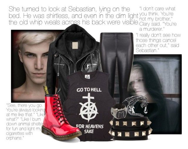 """Sebastian Morgenstern"" by xxxmakeawish ❤ liked on Polyvore featuring Joseph, Dr. Martens and Valentino"