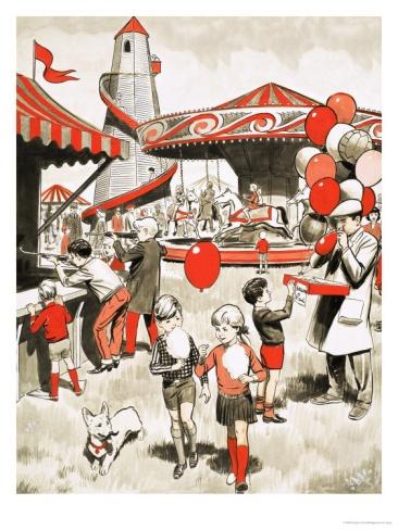 Fairground Scene Giclee Print at Art.co.uk