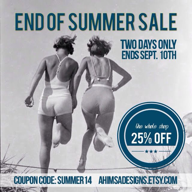 END OF SUMMER SALE – 25FF – 2 DAYS ONLY!