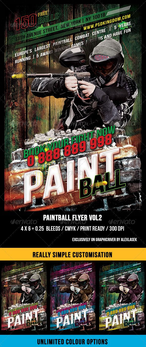 best images about print templates fonts flyer grunge paintball flyer vol 2 6 x 4