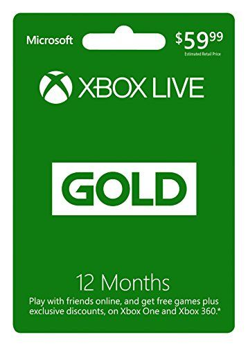 Discounted Microsoft Xbox LIVE 12 Month Gold Membership (Physical Card)