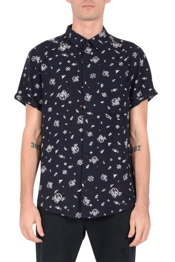 NEUW - Hunter Short Sleeve Shirt - Skulls