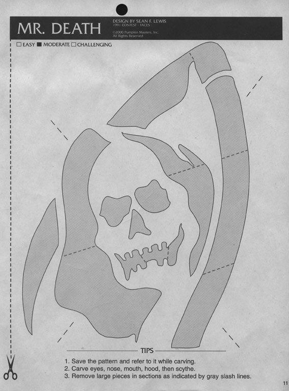 Mrdeath 567x767 Halloween StencilsHalloween TemplatesPumpkin