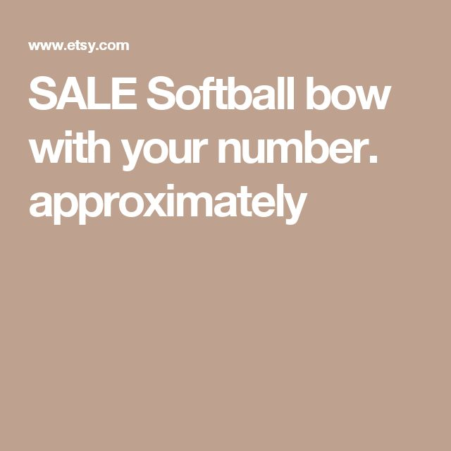 SALE Softball bow with your number. approximately