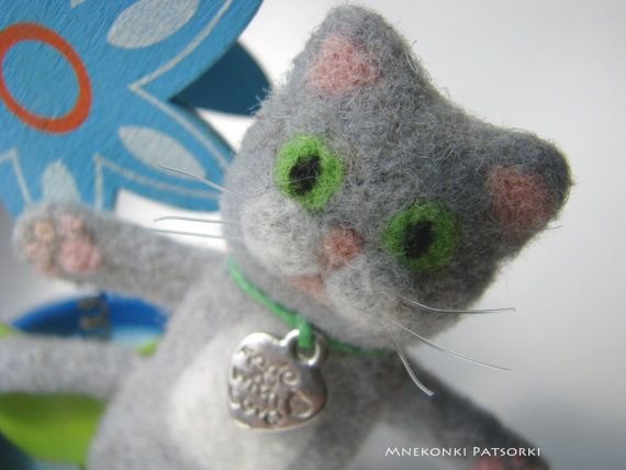 Handmade Brooch Needle Felting Kitten Wool Jewelry Needle