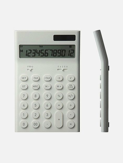 Electronic Calculator,Naoto Fukasawa,Plusminuszero,calculator,Office supplies,深泽直人,办公用品,计算器