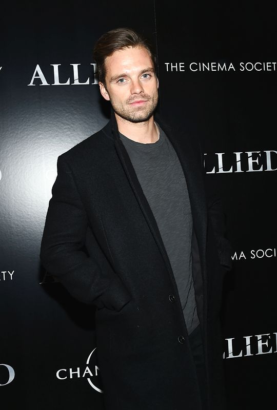 """mcavoys: """"  Sebastian Stan attends a special screening of 'Allied' hosted by Paramount Pictures, The Cinema Society & Chandon at iPic Fulton Market on November 15, 2016 in New York City. """""""