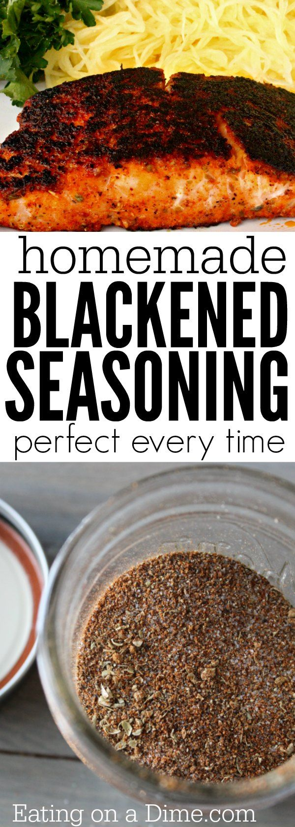 Forget buying blackened spices when you can make this easy Homemade Blackened Seasoning Recipe at home for a lot less. Enjoy Blackened salmon, blackened tilapia, and more with this easy blackened seasoning.