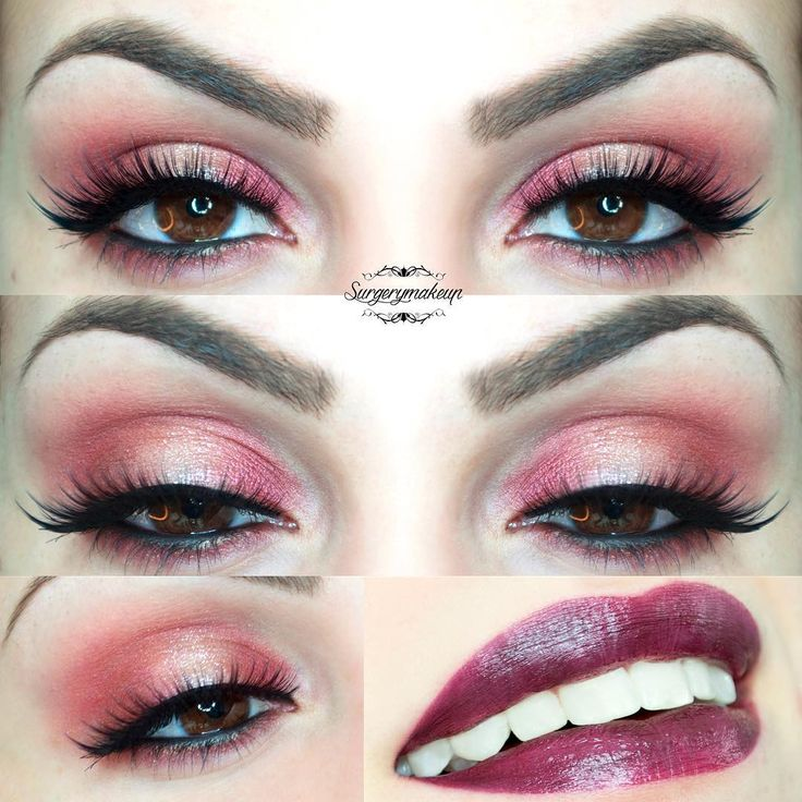 Sexy red make up look with bold lips.