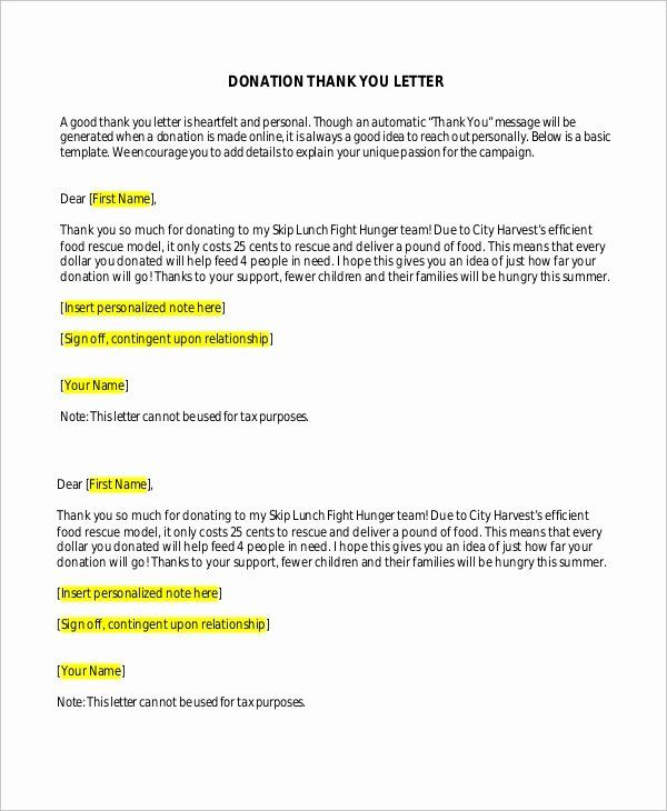 Thank You Donation Letter Template Awesome Sample Donation Thank You Letter 10 Examples In In 2020 Donation Thank You Letter Thank You Letter Thank You Letter Template