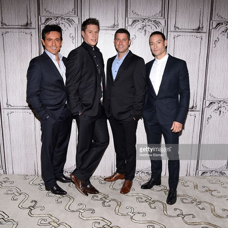 Carlos Marin, David Miller, Sebastien Izambard and Urs Buhler of Il Divo attend AOL Build Speakers Series - Il Divo 'Amor & Pasion' at AOL Studios In New York on February 10, 2016 in New York City.