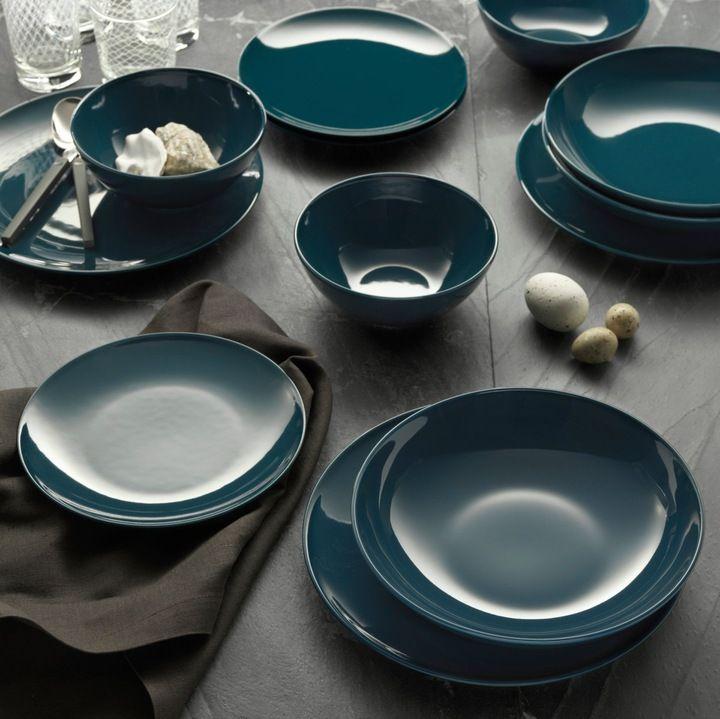 Zestaw Serwis Obiadowy 6 Osob 24szt Ciemnyturkus 6927790627 Allegro Pl Plates Dinnerware Set Ikea Dinnerware