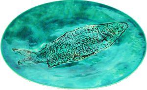 Patera z rybą od Inżynierii Designu / A ceramic plateau by Inżynieria Designu  http://qukeria.pl/?p=493   źródło zdjęcia: www.facebook.com/InzynieriaDesignu/