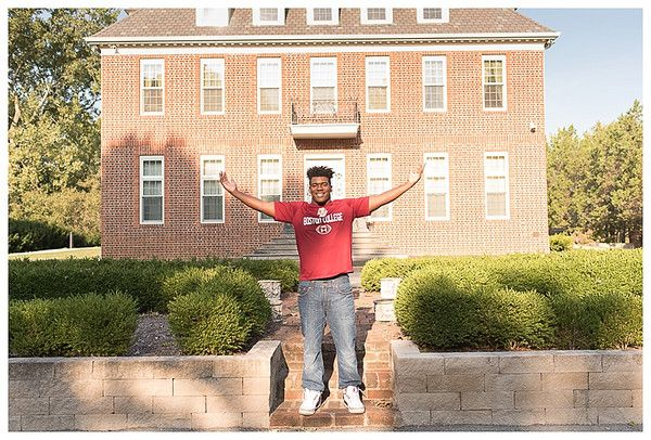 Cathedral High School, Indianapolis; Senior Guy Session, dressed in college gear