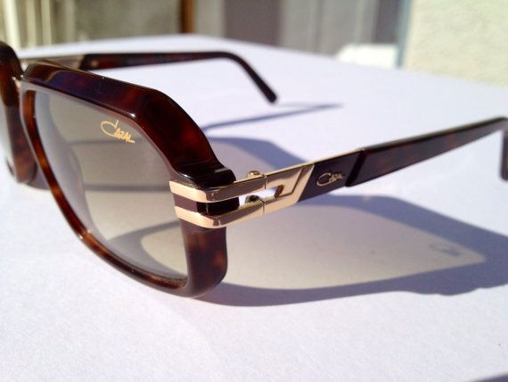 Beautiful NOS Cazal sunglasses made in Germany  gradient brown lens mod 6004/3 with original case plus paper and clothe