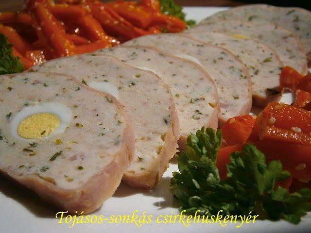 Receptek, hasznos cikkek és képek oldala!: Tojásos-sonkás csirkehúskenyér