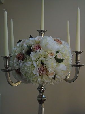 413 best sia flowers silkpetal images on pinterest sia white hydrangea peony pink cream rose artificial wedding flowers on a candelabra mightylinksfo Image collections