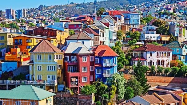 Valparaiso, Chile, South America, cobblestone, streets, architecture
