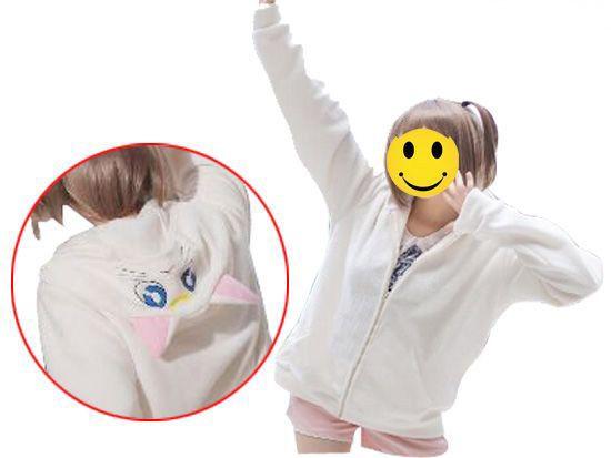 Sailor Moon Luna Unisex Hoodie Cream Fleece