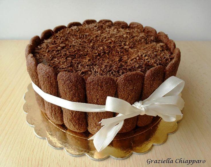 Charlotte+di+panettone+e+cioccolato+ +Ricetta
