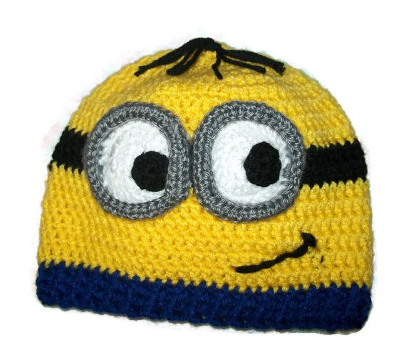 Crochet Minion Beanie by Casting Stitches on Etsy