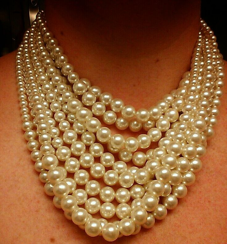 Vintage pearl necklace from 'Passionate About Vintage' in London.