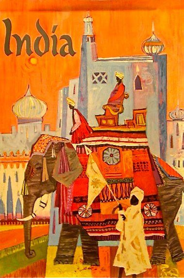 Vintage travel poster INDIA