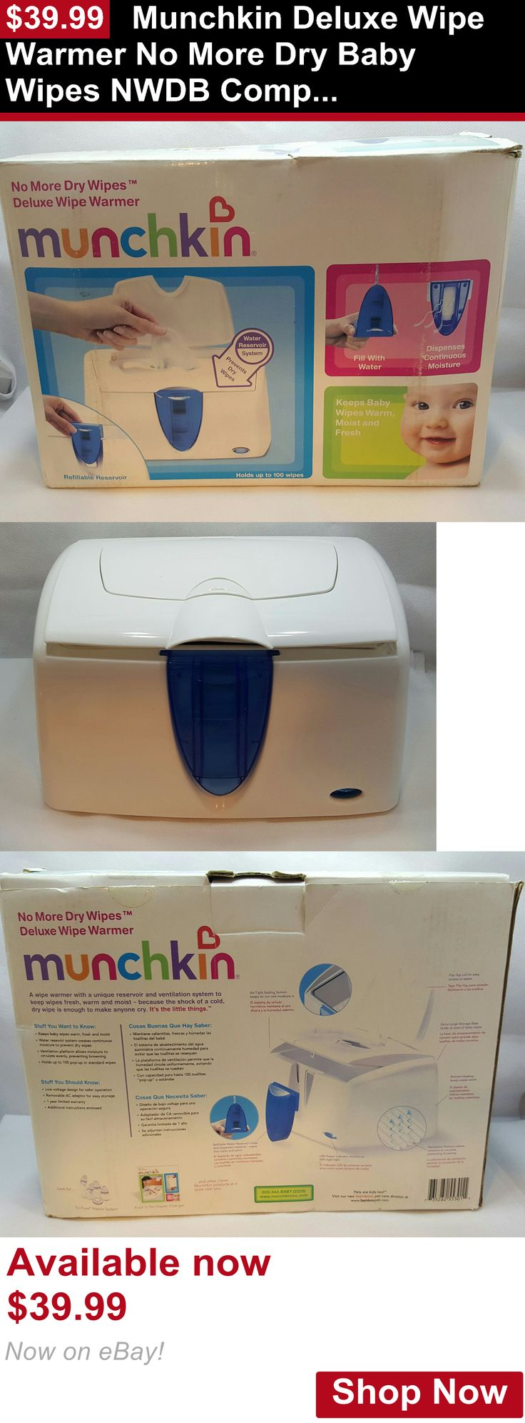 Baby Wipe Warmers: Munchkin Deluxe Wipe Warmer No More Dry Baby Wipes Nwdb Complete W/ Ac Adapter BUY IT NOW ONLY: $39.99