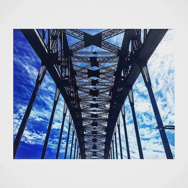 Under the #sydneyharbourbridge #harbourbridge #sydney #clouds #bridge by jaicherryjeanes http://ift.tt/1NRMbNv