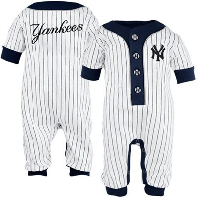 NYY Infant Pinstripe Coveralls