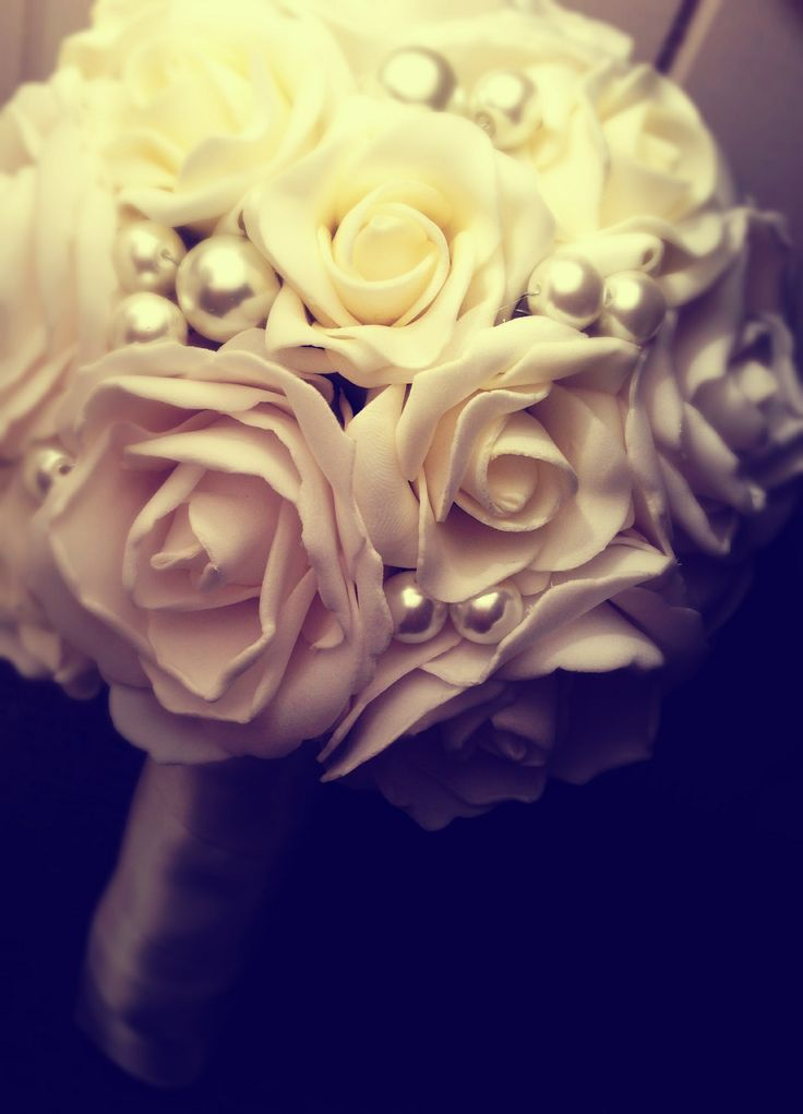Rose & Pearl Wedding Bouquet By Beautique Weddings Contact: beawed@outlook.com