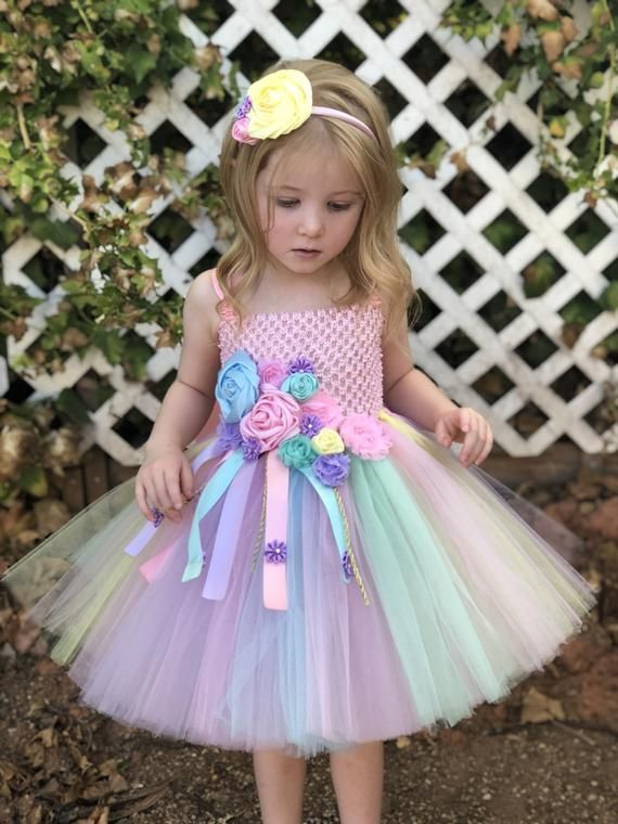 caed9e9f3 Unicorn tutu dress pink birthday dress pink flower girl | Etsy Baby Girl  Party Dresses,