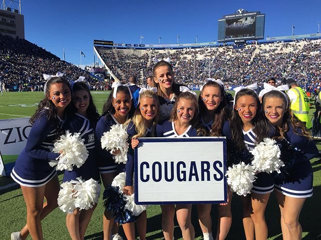 Another victory for BYU football today!! Now off to cheer on the women's and men's basketball teams tonight!