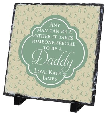 Personalised with a special message and names, this Slate makes an excellent Father's Day gift. Show your Dad how much you care and he can display it for all to see! Available from wowwee.ie for €29.99