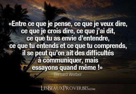 Les Beaux Proverbes – Proverbes, citations et pensées positives » » La communication
