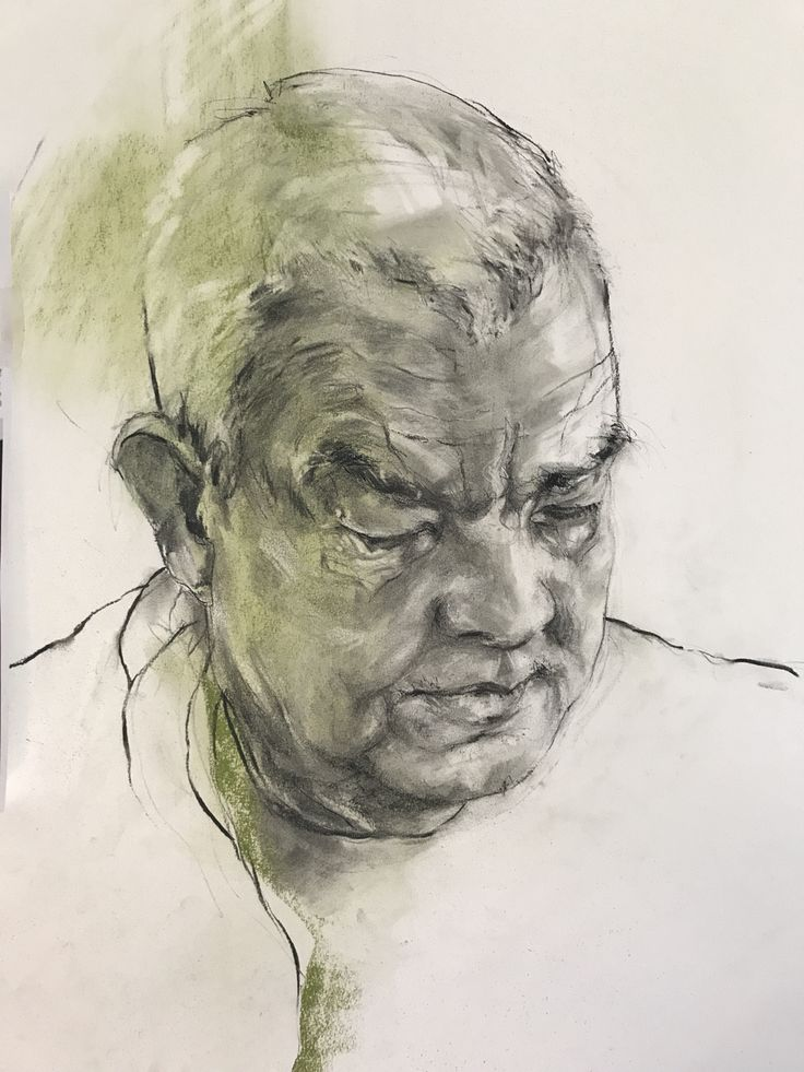 Collin. Charcoal & pastel
