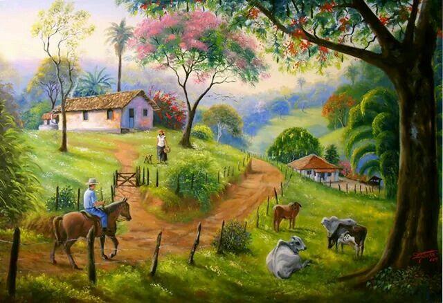 Paisaje tipico costarricense
