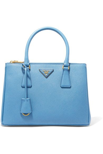 Prada - Galleria Medium Textured-leather Tote - Blue - one size