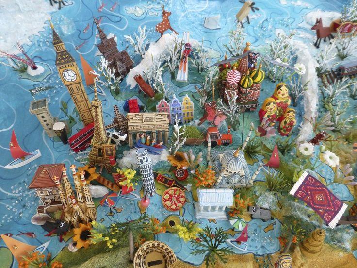 Sara Drake - Map of the World - Europe Detail - saradrake.com