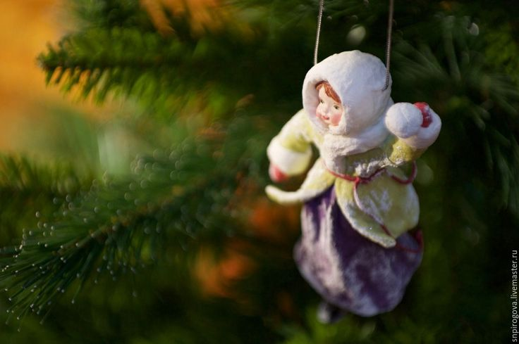 """Купить Ватные елочные игрушки """"Игра в снежки"""", Новый год - комбинированный, ватные игрушки"""