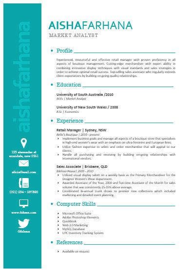 modern microsoft word resume template aisha farhana by inkpower   12 00
