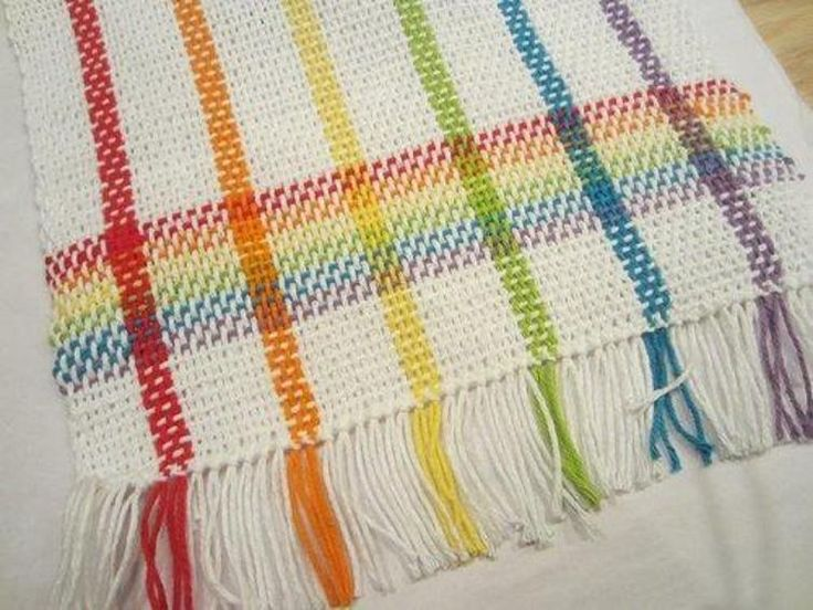 Rainbow tea towels | Craftsy